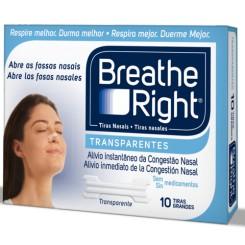 BREATHE RIGHT TRANSPARENTE GRANDE 10 U