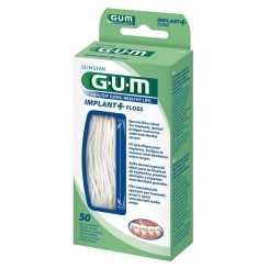 GUM IMPLANT FLOSS SIN CERA SEDA DENTAL IMPLANTES