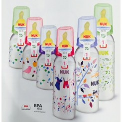 NUK BIBERON PP LATEX  1M 240 ML 0 - 6 MESES
