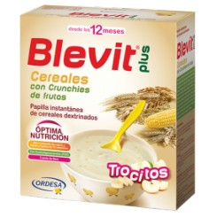 BLEVIT PLUS TROCITOS CEREAL CRUNCHIES FRUTA 600G