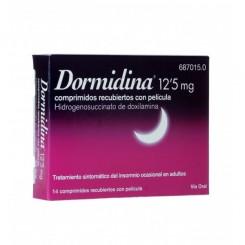 DORMIDINA 12.5 MG 14 COMPRIMIDOS RECUBIERTOS