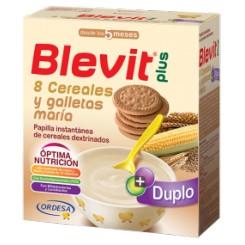 BLEVIT PLUS DUPLO 8 CEREALES Y GALLETAS 600G