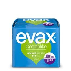 EVAX COTTONLIKE NORMAL SIN ALAS 20 UD