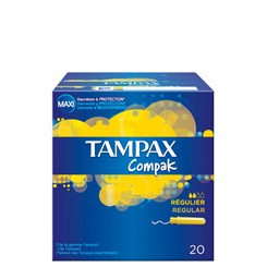 TAMPONES TAMPAX COMPAK REGULAR 20 UD