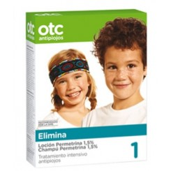 OTC PACK ELIMINA LOCION + CHAMPU PERMETRINA 1.5%