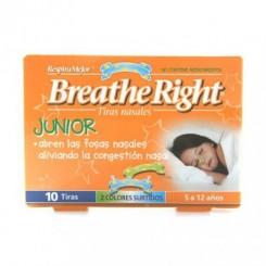 BREATHE RIGHT JUNIOR 10 TIRAS 5 A 12 AÑOS
