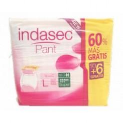 INDASEC PANT SUPER T.G 10+6 UNIDADES DE REGALO