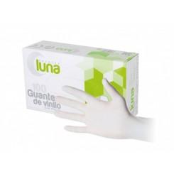 LUNA GUANTES DE VINILO T/M SIN POLVO 100 UNID.