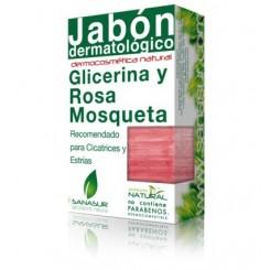 SANASUR  JABON GLICERINA Y ROSA MOSQUETA 100 G