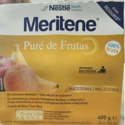 MERITENE PURE DE FRUTAS MACEDONIA 4X100G