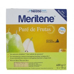 MERITENE PURE DE FRUTAS PERA 4X100G