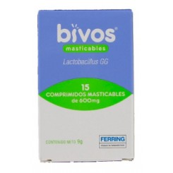 BIVOS 600MG 15 COMP MASTICABLES