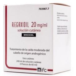 REGAXIDIL 20 MG/ML SOLUCION CUTANEA 4 FRASCOS 60