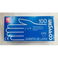 CORYSAN GUANTES DE LATEX C/POLVO 100 TALLA M