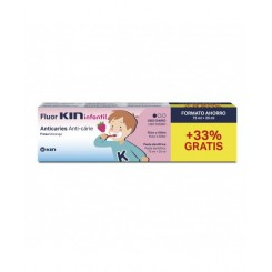 FLUOR KIN INFANTIL PASTA DENTIFRICA 75ML+25ML