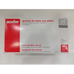 GUANTES DE LATEX CON POLVO ACOFAR T-  M