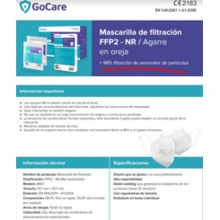 FFP2 NR GoCare Blancas 1 und Mascarilla