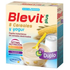 BLEVIT PLUS DUPLO 8 CEREALES Y YOGUR 600 G