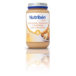 NUTRIBEN MANZANA NARANJA PLATANO C/ GALLETA 250