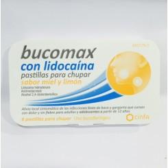 BUCOMAX 8 PASTILLAS LIDOCAINA MIEL Y LIMON