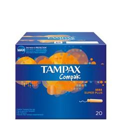 TAMPONES TAMPAX COMPAK SUPER PLUS 20