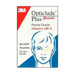 OPTICLUDE PLUS PARCHES OCULARES  GRANDE 20 UDS