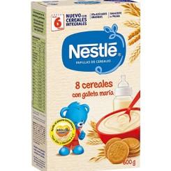 Nestle 8 cereales con galletas 600 g