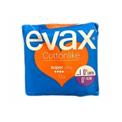 COMPRESAS EVAX COTTONLIKE ALAS SUPERPLUS