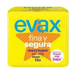 EVAX FINA Y SEGURA MAXI SIN ALAS 14 UD